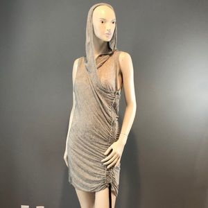 NWT A.L.C Gray Asymmetric Tie Dress